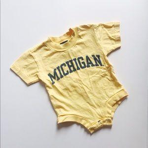 U of Michigan Wolverines Baby Onesie